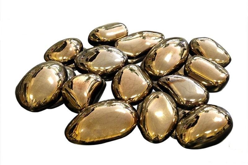 Камни золотые 14шт.